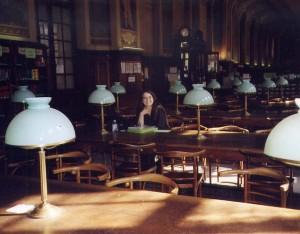 à la bibliothèque de la Sorbonne